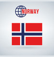 norway flag isolated on modern background with vector image vector image