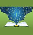 open book school subject icon concept cartoon vector image