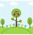 Owl on trees vector | Price: 1 Credit (USD $1)
