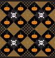 pattern halloween geometry vector image