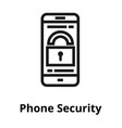 phone security line icon vector image