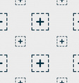 Plus in square icon sign Seamless pattern with vector image