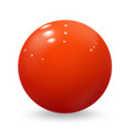 realistic red ball glossy sphere isolated on white
