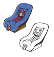 safety seat coloring book vector image vector image