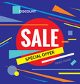 sale discount special offer - promotion vector image vector image