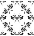 seamless pattern with tribal racing checkered flag vector image vector image