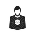 shooting target icon vector image vector image