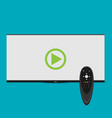 smart tv concept - in flat style vector image vector image