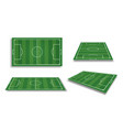 soccer field collection perspective elements vector image vector image