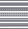 straight seamless roads vector image vector image