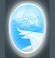 summer travel concept inscription on window vector image vector image