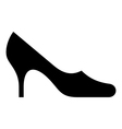 Symbol of female shoe vector image