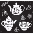 Tea Cup Lettering vector image vector image