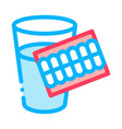teeth water glass icon outline vector image