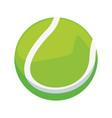 tennis ball sport vector image vector image