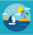 tropical island ocean landscape vector image vector image