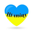 ukraine lettering on hearts in the colors of blue vector image vector image