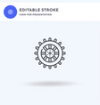 wheel icon filled flat sign solid vector image vector image