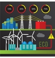 Wind power station Trendy infographics set All vector image vector image
