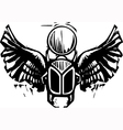 Winged Scarab vector image