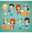 Women Having Medical Consultation in Doctors vector image vector image