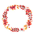 wreath autumn leaf watercolor vector image vector image