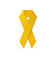 Yellow ribbon isolated on white background vector image vector image