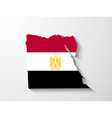 Egypt map with shadow effect vector image