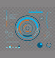 abstract future concept futuristic blue vector image