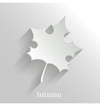 Abstract Maple Leaf on White Background vector image vector image