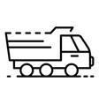 agriculture truck icon outline style vector image vector image