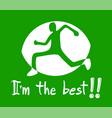athlete symbol vector image
