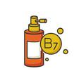 b7 biotin in liquid form rgb color icon vector image vector image