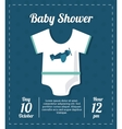 Baby Shower design pijama cloth icon vector image vector image