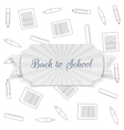 Back to School Text on Badge with Ribbon vector image vector image