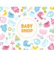 bashop banner template kids store badge vector image vector image