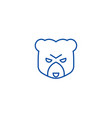 bear head sign line icon concept bear head sign vector image vector image