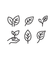 black leaves icons vector image vector image