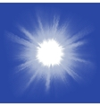 Blue halftone blast EPS 8 vector image