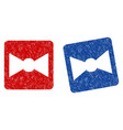 bow tie grunge textured icon vector image vector image