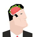 Business brain Businessman thinks of money Head of vector image vector image