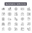 business services line icons for web and mobile vector image vector image