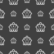 business team icon sign Seamless pattern on a gray vector image