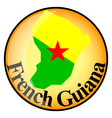 button French Guiana vector image