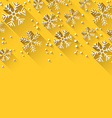 Christmas yellow abstract background vector image