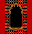 classic gothic decorative frame on red and black vector image vector image