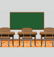 classroom scene with desks and blackboard vector image