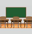 classroom scene with desks and blackboard vector image
