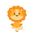 cute cartoon lion isolated on vector image