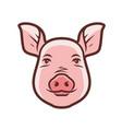 cute pig portrait symbol farm animal food vector image
